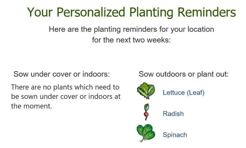 a planting reminder